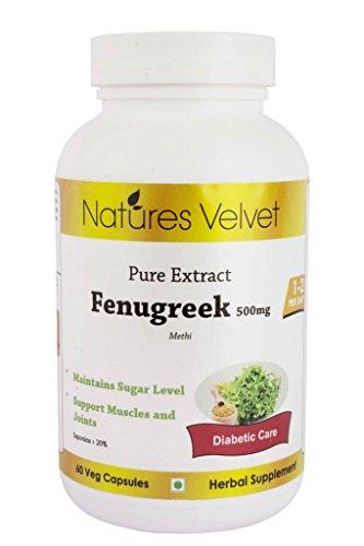 Natures Velvet Fenugreek Pure Extract (500 mg), 60 veggie capsule(s)