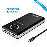 Poweradd 20100mAh (Qualcomm zertifiziert) Qualcomm Quick Charge 3.0 Externer Akku mit LED...
