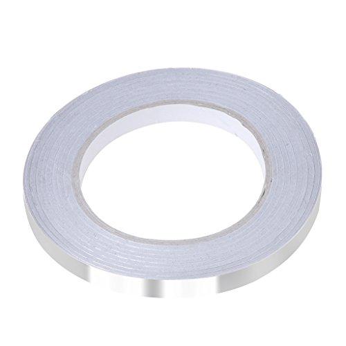 FXCO Aluminiumfolie Klebeband Dichtband Hitzebeständig Hohe Temperatur (10mm) -
