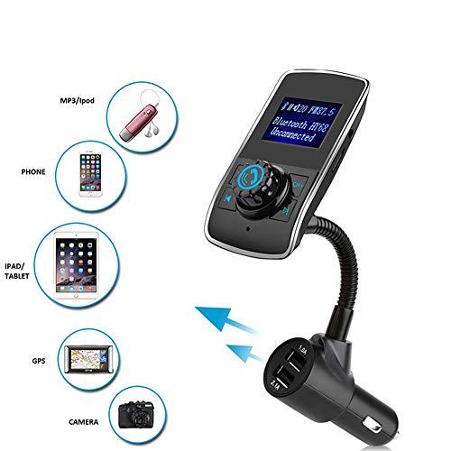 Clydekaoyan Big Screen Auto-MP3-LCD-Anzeigen-Auto-Batterie-Spannung Bluetooth FM Transmitter Kit mit Spieler-Karte Autoradio unterstützt Line-in/Line-Out/TF-Karte