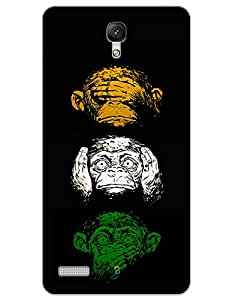 Xiaomi Redmi Note 4G Cases & Covers - Wisdom Monkeys Case by myPhoneMate - Designer Printed Hard Matte Case - Protects from Scratch and Bumps & Drops.