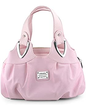 Panzexin Frauen Frische Gedrucktes Handtasche Schultertasche Handgelenktasche Damen Leder Umhängetasche