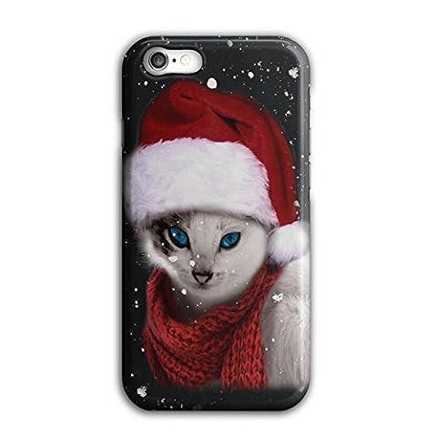Chat Mignonne Drôle Noël Père Noël Claus 3D iPhone 8Étui