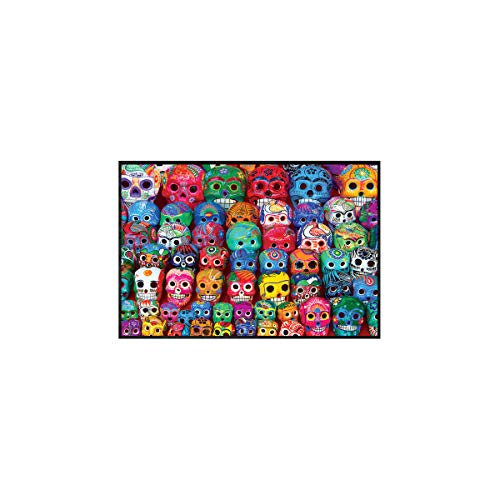 Eurographics Colors of The World: Traditionelle mexikanische Totenköpfe, Wanddekoration, Bild 30,5 x 45,7 cm, gerahmte Kunst (Gerahmte Kunst Poster)