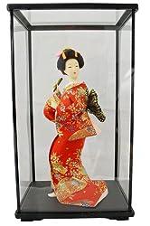 Authentische japanische Geisha Vintage Dolls: 9 Zoll-mit Koffer # 4