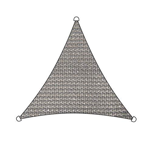 Markisen Sonnensegel Dreieck UV-Block Durchlässig Dauerhaft Zum Draussen Schwimmbad Terrasse Deck Pergola Sonnenschirm TIDLT (Farbe : Gray-4.8x4.8x4.8m)
