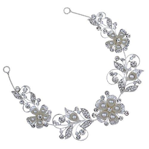 Yazilind tocados novia diademas para el pelo mujer tocados de pelo Estilo de la flor de la joyeria del vestido de pelo (Estilo14)