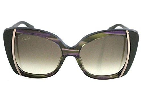 Emilio pucci occhiali da sole 741s-306 (56 mm) oliva