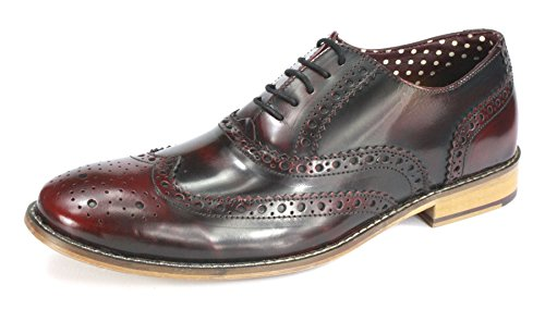 London Brogues , Chaussures de ville à lacets pour homme Marron Marron Hi Shine Bordo