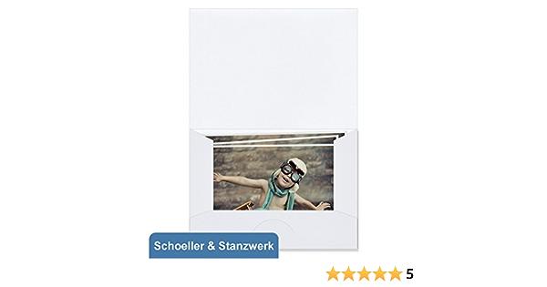 1x100 Schoeller Stanzwerk Picture Folder White Kw41011 For Photos 5x7 Bürobedarf Schreibwaren
