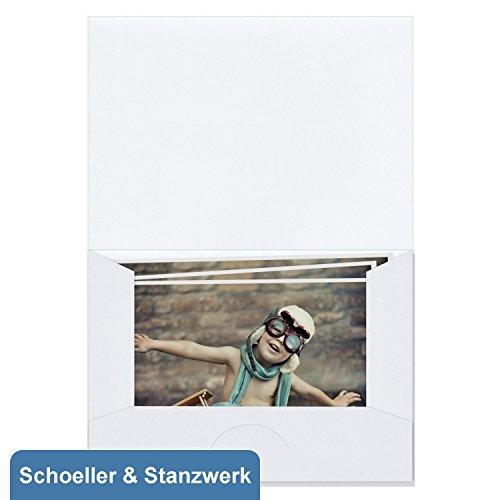 Die Vorgeformten Schleife (100 Stück Bildmappe/Fotomappe für 15x20 cm Fotos - weiß matt - Kwick - Schoeller & Stanzwerk)