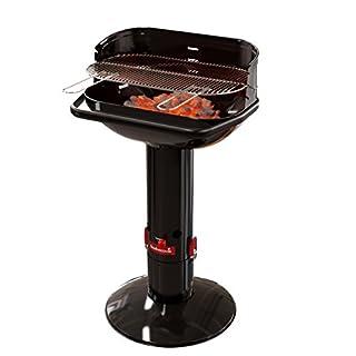 barbecook Holzkohlegrill Säulengrill Stand-Grill eckig 3-Fach höhenverstellbar mit Quick-Stop, schwarz, 62x35x99,5 cm (B07658QPWB) | Amazon Products