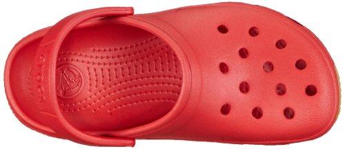 Crocs - Zoccoli Retro, Unisex - bambino Rosso (Red/Black)