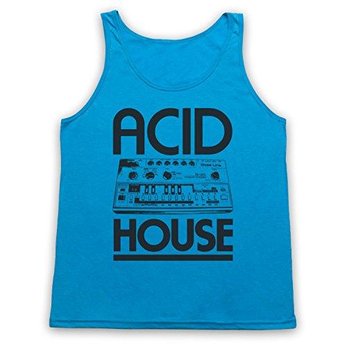 Acid House Bass Synth Tank-Top Weste Neon Blau