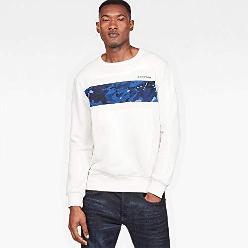 dd1a58ab11 GSTAR Sweatshirts and Hoodies Gstar Core Camo Block R Milk XL