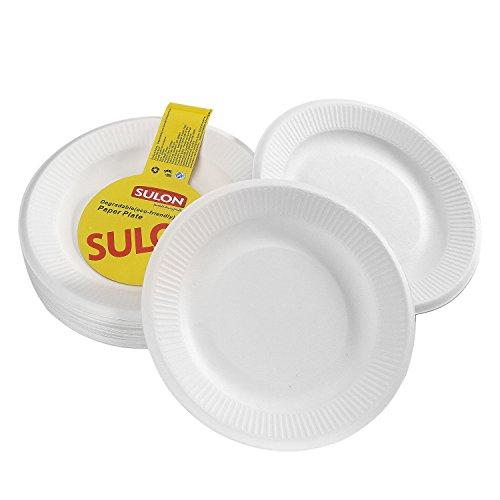 Papier / Einweggeschirr / Einweg-Geschirr / Partei liefert mit 3 cm hohen Seite, weiß, Durchmesser 18cm (50PCS)