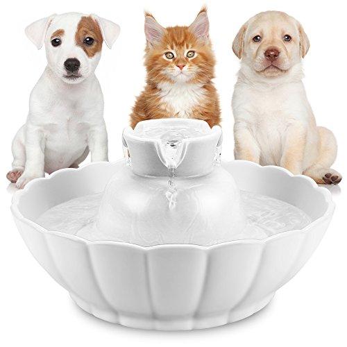 Hommii Fuente Bebedero Cerámico para Gato/Perro Mascotas Silencio 2.1