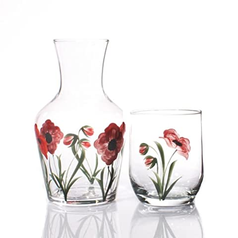 Hand Painted Carafe Set -