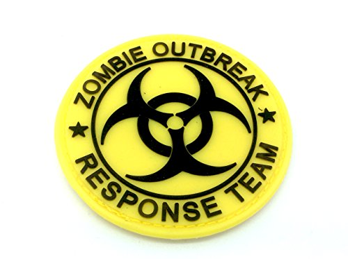 Zombie Outbreak Response Team Yellow Biohazard PVC Airsoft Paintball Patch