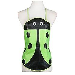 Green : Hunpta 1PC Kids Children Waterproof Print Apron Paint Eat Drink Outerwear (Green)