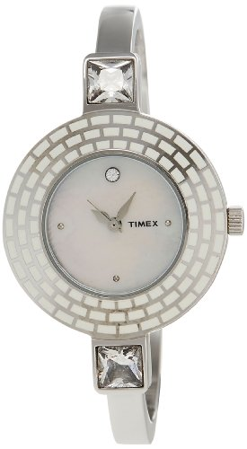 Timex Bangle Analog Mother of Pearl Dial Women's Watch - TI000N30200 image