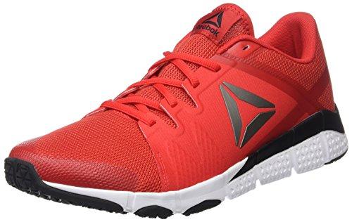 Uomo Primordiale Reebok Rosso Nero Rosso Nero Peltro Bianco Trainflex Scarpe Fitness multicolore Bianco Rosso TZZxq56Aw