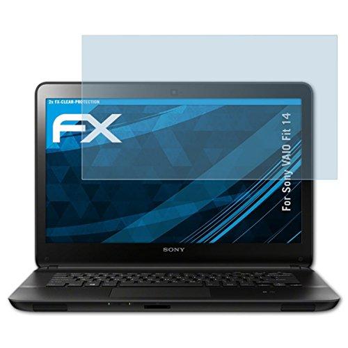 atFolix Schutzfolie kompatibel mit Sony VAIO Fit 14 Folie, ultraklare FX Displayschutzfolie (2X) (Sony Fit 14)