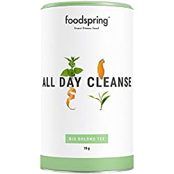 foodspring Functional Tea All Day Cleanse, 70g, Bio Oolong Tee für den ganzen Tag