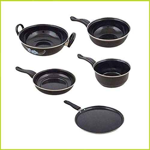 Kitchentop Modern Collections Set of 5 Pcs Induction Base Induction Bottom Cookware Set (Non-Stick), 5 - Piece)