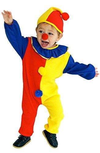 Cloud Kids Clown Kostüm für Kinder Karneval Fasching Kostüm Cosplay mit Kapuze für 3-4 Jahre Größe - Süße Clown Kostüm Kleinkind
