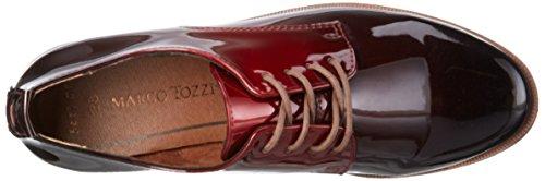 Marco Tozzi 23200, Scarpe Stringate Basse Oxford Donna Rosso (MERLOT PAT.COM 552)