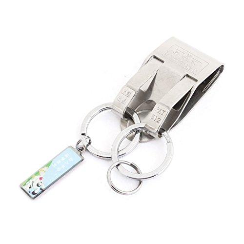 Gürtelhaken Clip-Haken-Schlüsselring-Schlüssel-Halter-3cm Durchmesser Dual-Split-Ring
