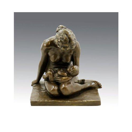 Bronzefigur der Moderne - Mutter mit Kind (1907) - signiert - Wilhelm Lehmbruck Figur - Skulptur - Statue in Bronze