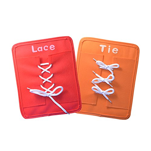 Pueri-Montessori-Tableros-de-Aprendizaje-Juguete-de-Ensear-vestir-Preescolar-6-Piezas-en-1-de-Snap-Hebilla-Botn-Encaje-Cremallera-y-Corbata
