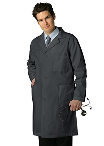 Cherokee Drucken Scrub Tops (Adar Medical Uniformen Herren 99,1 cm Ärzte Scrub Labcoat mit Innentaschen Gr. Größe 56, Zinnfarben)