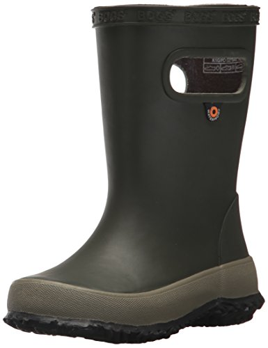 BOGS Unisex-Child 72149K-540 Skipper Waterproof Rubber Rain Boot for Boys and Girls