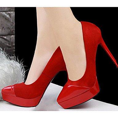 Moda Donna Sandali Sexy donna tacchi tacchi Estate Felpa casual Stiletto Heel altri nero / verde / rosa / rosso / grigio chiaro / nudo altri gray