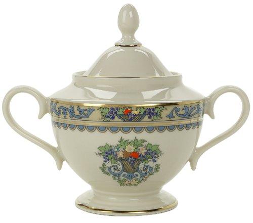 Lenox Herbst Gold-Banded Fine China erfolgt 5-teiliges Set, Gold, Sugar Bowl Fine China Sugar Bowl