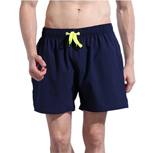 ORANSSI Men's Solid 16-Inch Waterproof Swim Trunks