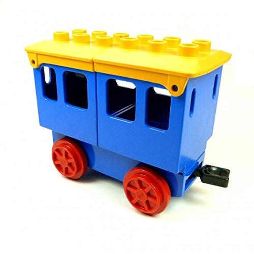 Gebraucht, Lego Duplo Eisenbahn Anhänger blau Personen Wagen blau gebraucht kaufen  Wird an jeden Ort in Deutschland