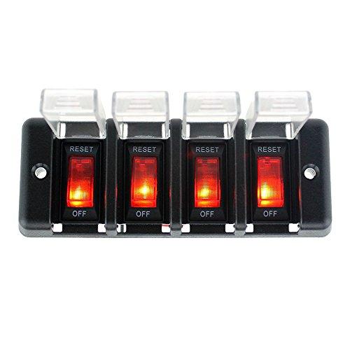 KKmoon Panel Interruptor Energía 12V-24V LED Indicador