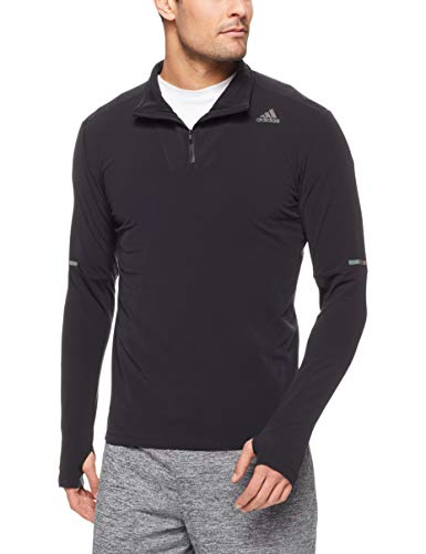 adidas Herren SN 1/2 Zip Long Sleeved T-Shirt, Black, XL -