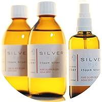 Preisvergleich für PureSilverH2O 600ml Kolloidales Silber (2X 250ml/25ppm) + Spray (100ml/25ppm) Reinheit & Qualität seit 2012