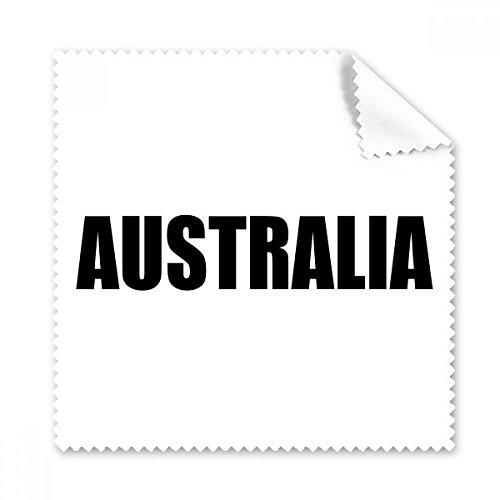 DIYthinker Australien Land Name Schwarz Brille Tuch Reinigungstuch Telefon Screen Cleaner 5Pcs Geschenk