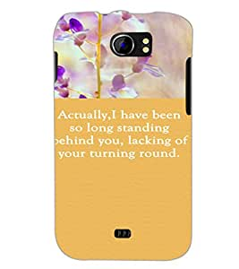 PrintDhaba Quote D-3722 Back Case Cover for MICROMAX A110Q CANVAS 2 PLUS (Multi-Coloured)
