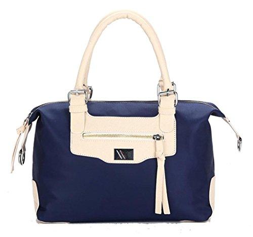 Auspicious beginning Neue Art wasserdicht Nylon tragbaren Euramerican Art und Weise graue Handtasche Blau