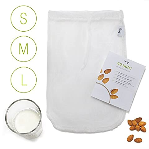 Amazy Nut Milk Bag- The Filter Made For Almond Milk,