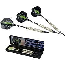super-bab alta calidad 3pcs/1set 18G 15,5cm profesional acero punta Darts–Cañas de dardos de aluminio con cuerpo y Niza de hierro y plumas para dardos