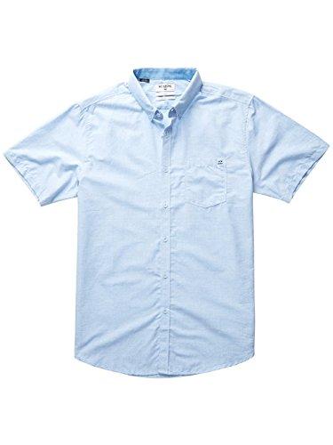 Billabong Herren All Day Chambray Short Sleeve Oberteil Light Blue