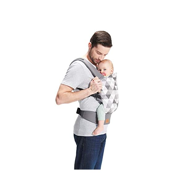 kk Kinderkraft Nino Ergonomic Baby Carrier Front Gray kk KinderKraft Thanks to a special, well-profiled layer, the baby's head does not tilt Ergonomic baby carrier for children aged from 3 months up to 20 kg The compact baby carrier can be folded to a small size and weighs only 0.39 kg 2